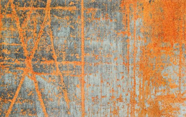 Sauberlaufmatte Rustic, abstraktes Design, orange/grau, Draufsicht