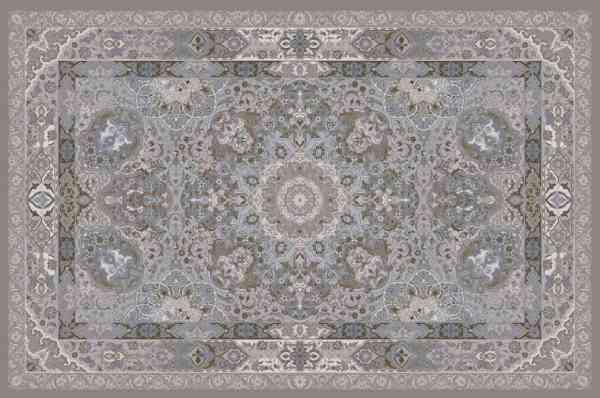 Perserteppich Classical handgeknüpft aus bester Schurwolle und Seide, mehrfarbig, Draufsicht