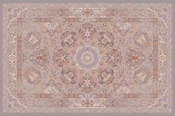 """Persischer Designerteppich aus der """"Classical-Kollektion, handgeknüpft aus Wolle und Seide, grau/braun/mehrfarbig, Draufsicht"""