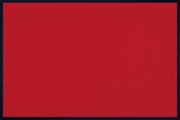 Fußmatte uni Scarlet, Wash & Dry Monocolour, 040 x 060 cm, Draufsicht