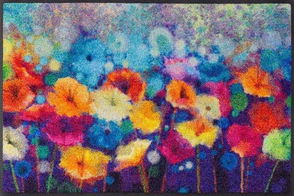 Flowerlover Sauberlaufmatte, mehrfarbiges Blumenmotiv, 50 x 75 cm, Draufsicht