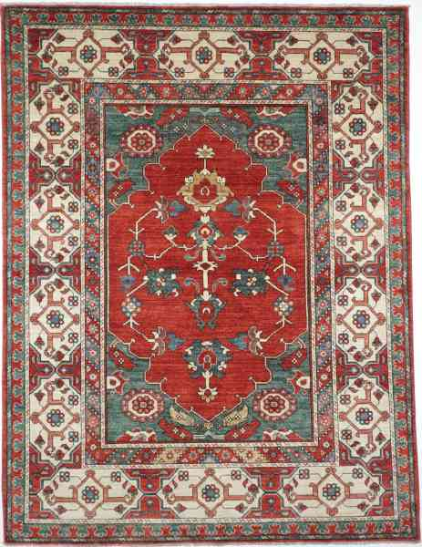 Orientteppich Treasures of the past 150 x 197 cm red/green/white Draufsicht