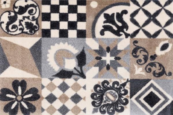 Alcina Fußmatte wash & dry, mehrfarbig, nachhaltig, 050 x 070 cm, Draufsicht
