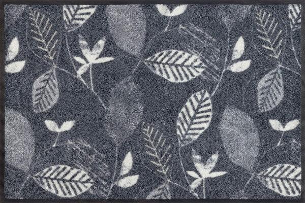 Fußmatte Conflore, Wash & Dry Interior Design, grau/weiß, floral, 50 x 75 cm, Draufsicht
