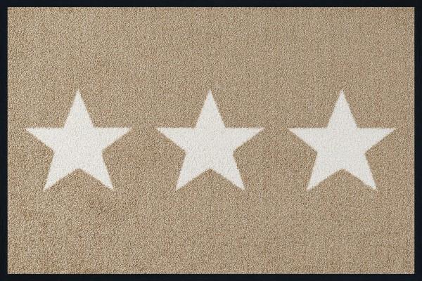 Fußmatte Stars sand, Wash & Dry Design, 40 x 60 cm, Draufsicht