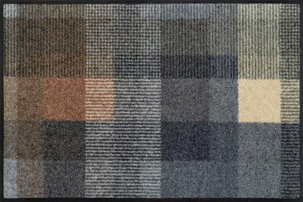 Fußmatte Quadratini, Wash & Dry Interior Design, mehrfarbig, 50 x 75 cm, Draufsicht