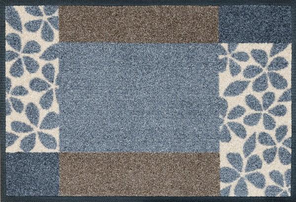 Fußmatte Florita grey, Wash & Dry Interiormatte, 040 x 060 cm, Draufsicht