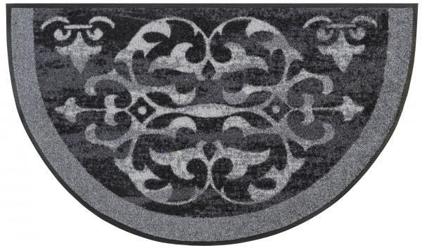 Round Ornaments Fußmatte, halbrunde Sonderform, 50 x 85 cm, Draufsicht