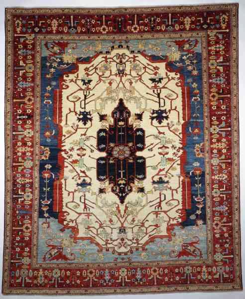 Orientteppich Treasures of the Past, mehrfarbig - Draufsicht