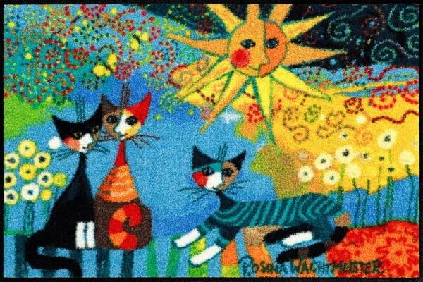 Fußmatte La Dolce Vita, Rosina Wachtmeister Lifstyle, mehrfarbig, 050 x 075 cm, Draufsicht