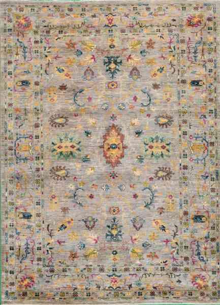 Afghanischer Teppich Rubin Middle, von Hand gefertigt, reine Schurwolle, mehrfarbig, Draufsicht