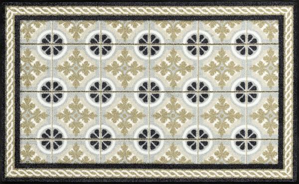 Küchenmatte Kitchen Tiles, Wash & Dry im Mosaikdesign, 75 x 120 cm, Draufsicht