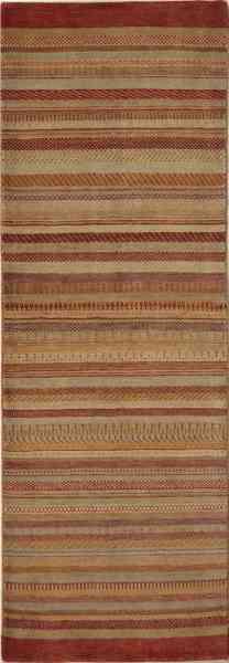 Afghanischer Teppich, Läufer, handgeknüpft, Wolle, Draufsicht
