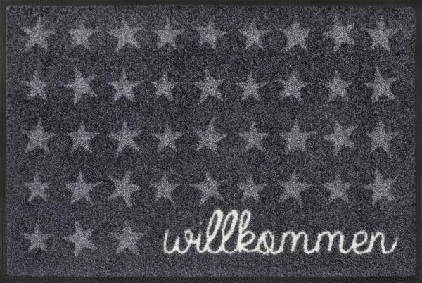 Fußmatte Willkommen Sterne, Wash & Dry Design Enter & Exit, 050 x 075 cm, Draufsicht