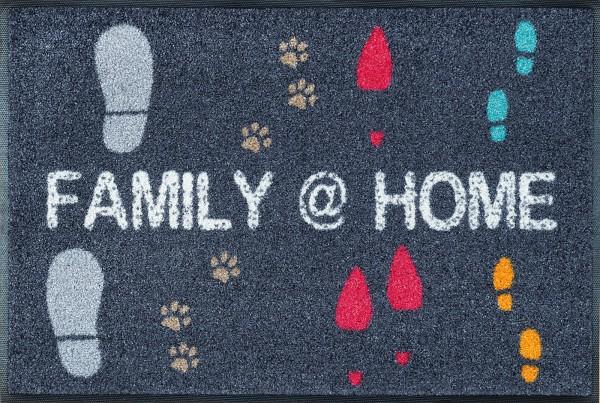 Fußmatte Family @ Home, Wash & Dry Design Enter & Exit, 050 x 075 cm, Draufsicht