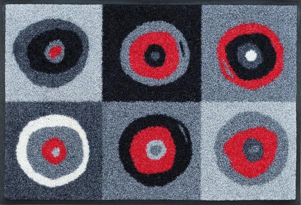 Fußmatte Sergej grey, wash & dry Sauberlaufmatte, 040 x 060 cm, Draufsicht