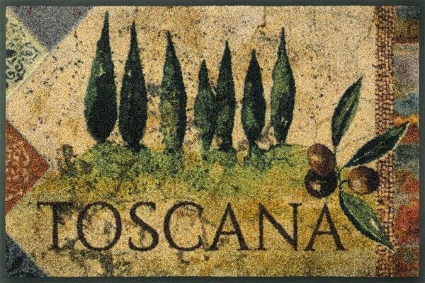 Fußmatte Estate Toscana, Designmatte wash & dry, 050 x 075 cm, Draufsicht
