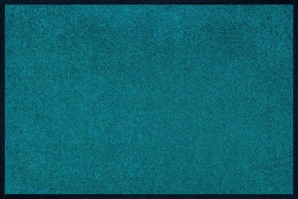 Fußmatte uni TC_Peacook Green, Wash & Dry Trend Colour, 040 x 060 cm, Draufsicht