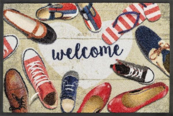 Fußmatte Shoes welcome, Wash & Dry Enter & Exit, 050 x 075 cm, Draufsicht