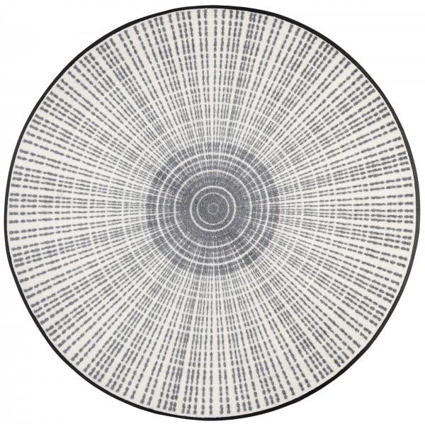 Fußmatte Cascara grey, Wash & Dry Design, runde Sonderform, ∅ 85 cm, Draufsicht