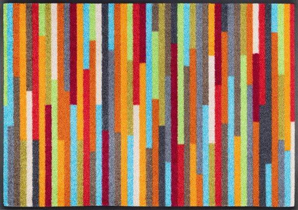 Fußmatte Mikado Stripes, wash & dry Design, mehrfarbig, 060 x 085 cm, Draufsicht