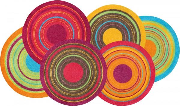 Cosmic Colours Sauberlaufmatte, randlos, mehrfarbig, Draufsicht