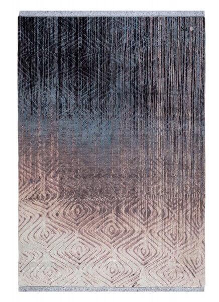 Hailstorm Designerteppich, Schurwolle & Seide, handgeknüpft, 201 x 290 cm, Draufsicht