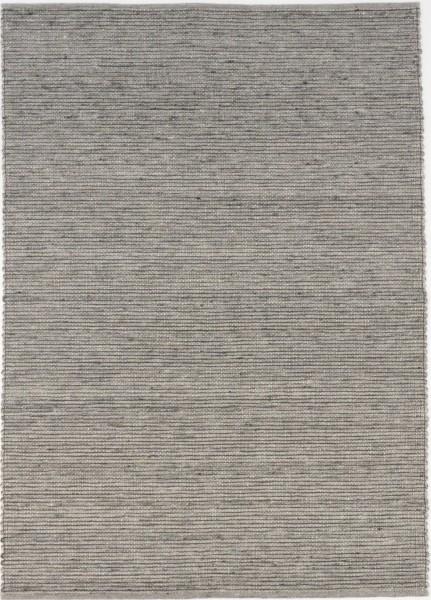 Handwebteppich Black Forest Kandel, grau, gewalkte Schurwolle, schwarze Kettfäden, Draufsicht