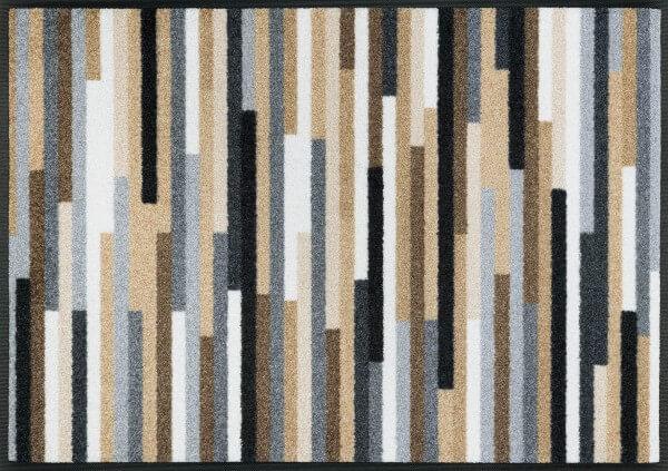 Sauberlaufmatte Mikado Stripes nature, Wash & Dry Design, 060 x 085 cm, Draufsicht