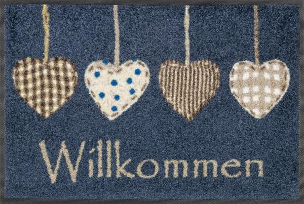 Fußmatte Cottage Hearts, Wash & Dry Design Enter & Exit, 040 x 060 cm, Draufsicht