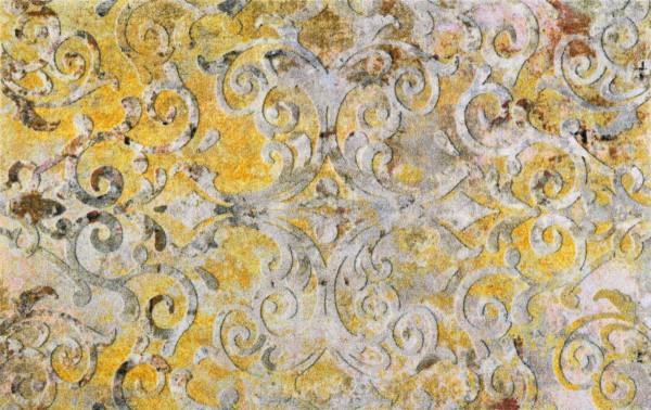 Valencia Love, randlose Sauberlaufmatte, PVC-frei, gelbgrundig, 110 x 175 cm Draufsicht
