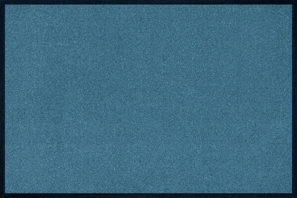 Fußmatte uni TC_Steel Blue, Wash & Dry Trend Colour, 040 x 060 cm, Draufsicht