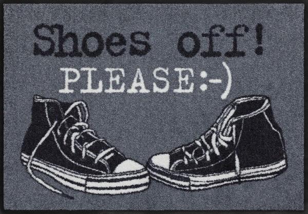 Fußmatte Shoes Off Please, Salonloewe Classic Style, 50 x 75 cm, Draufsicht