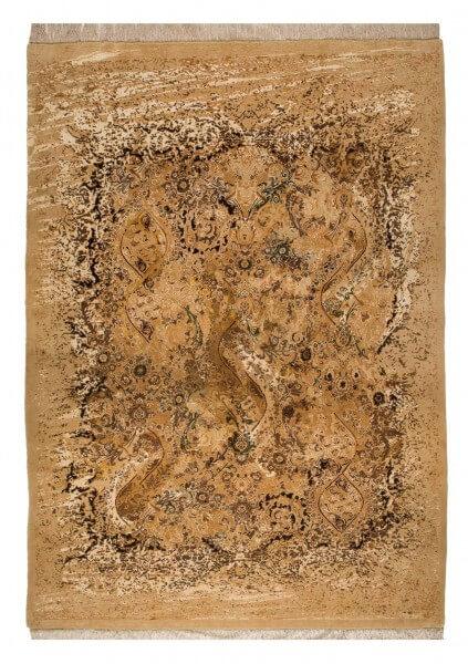 Floral Foxtrot Designerteppich, Wolle & Seide, mehrfarbig, 231 x 326 cm, Draufsicht
