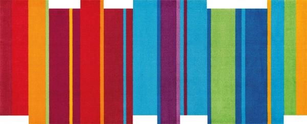 Dancing Steps multi, randlose Sauberlaufmatte in Sonderform, mehrfarbig bunt, Draufsicht