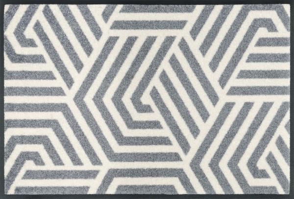 Fußmatte Odin, Wash & Dry Interior Design, weiß/ grau, 50 x 75 cm, Draufsicht