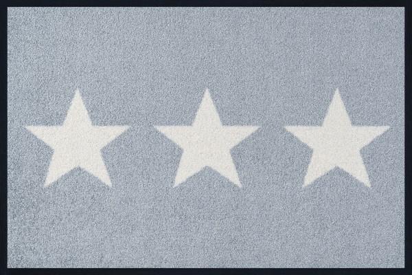 Sauberlaufmatte Stars grey, Wash & Dry Designmatte, 40 x 60 cm, Draufsicht