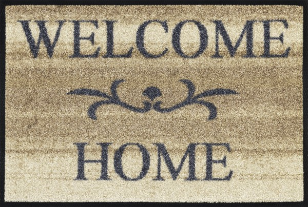 Fußmatte Welcome Home beige, Wash & Dry Design, 040 x 060 cm, Draufsicht