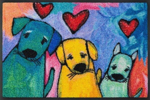 Doggies Fußmatte, wash & dry Design, mehrfarbig, 40 x 60 cm, Draufsicht