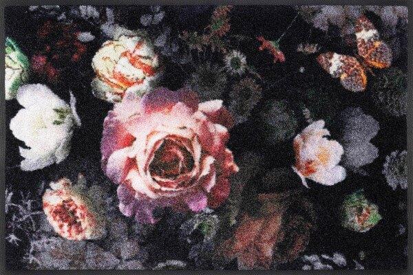 Fußmatte Night Roses, Wash & Dry Designmatte, 050 x 075 cm, Draufsicht