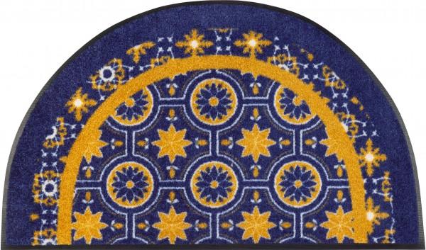 Fußmatte Round Azulejo, Sonderform, 50 x85 cm, Draufsicht