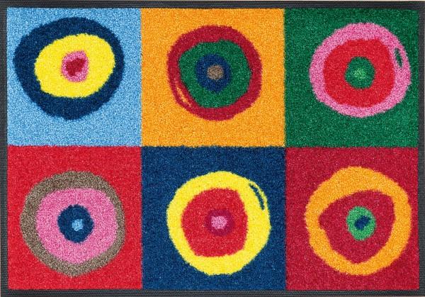 Fußmatte Sergej, Wash & Dry Design, mehrfarbig, 040 x 060 cm, Draufsicht