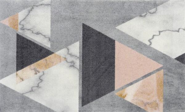 Velvet Marble Decor Fußmatte, modernes Design, randlos, mehrfarbig, Draufsicht