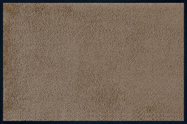 Fußmatte uni Taupe, Wash & Dry einfarbig, 040 x 060 cm, Draufsicht