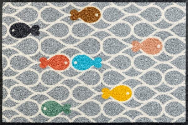 Fishpond Sauberlaufmatte, wash & dry, mehrfarbig, 50 x 75 cm, Draufsicht