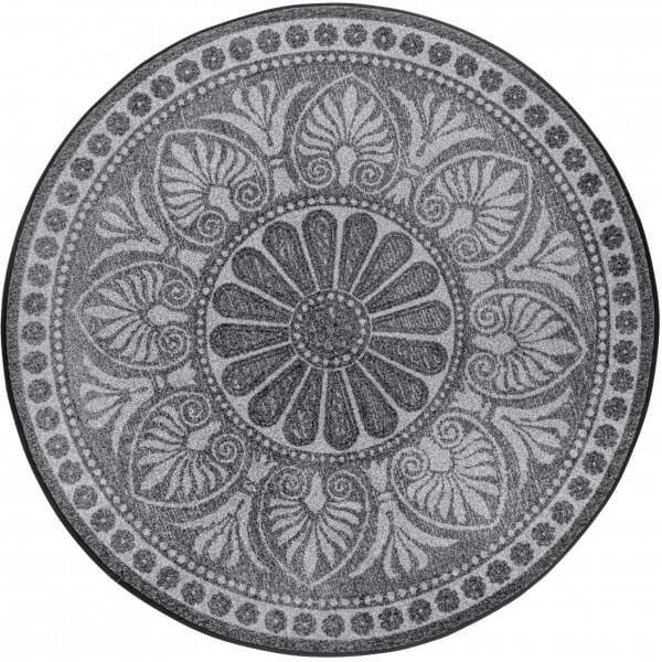 Runde Fußmatte Rotondo, Wash & Dry Design, grau, ∅ 115 cm, Draufsicht