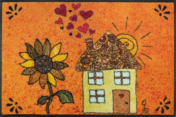 Fußmatte Sonnenhaus, Design Rollin' Art, Wash & Dry Kollektion, 50 x 75 cm, Draufsicht