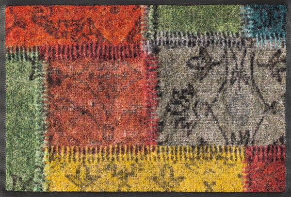 Fußmatte in Patchwork-Optik, Wash & Dry Desgn, mehrfarbig, 040 x 060 cm, Draufsicht
