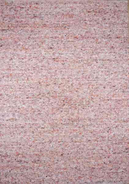 Handwebteppich Black Forest Star, gewalkte Schurwolle, pink meliert, Draufsicht