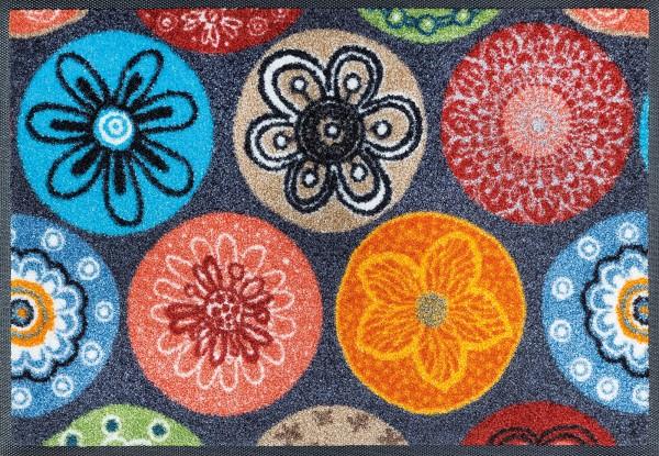 Sauberlaufmatte Coralis, wash & dry Design Fußmatte, mehrfarbig, 040 x 060 cm, Draufsicht